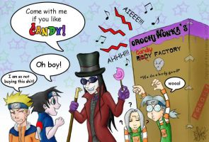 'Orochi Wonka' has CANDY by darkwater-pirate