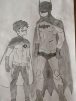 Batman and Robin by star-bite13