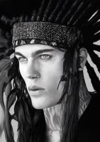 Stephen James with an Indian Hairpiece by denkata5698