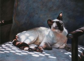 Dappled Light- Jezebel -Pastel by AstridBruning