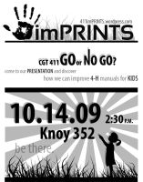 imPRINTS black and white ad by Alley9