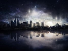 Night Skyline by igreeny