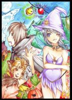 Halloween with fairies by viki-vaki