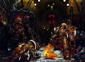 Warhammer 40K Emperor Throne Scene Touched Up by RAVENORE