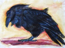 And Here's a Raven by Megan--Elisabeth