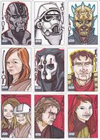 Star Wars G6 cards batch 1 by NORVANDELL