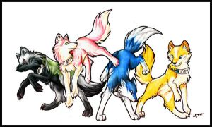 Naruto Wolves by Halo-2-fan