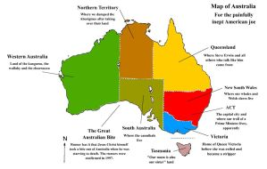 Map of Australia for Americans by JoesGuy