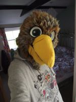 Brown eagle fursuit head - view 1 by THEsquiddybum