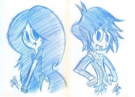 Marceline and Marshall Lee by Jose-Miranda