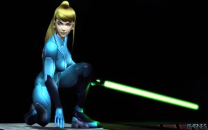 Samus Aran by Deathbymodding