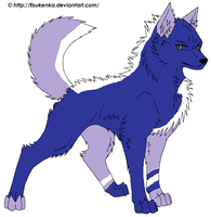 Lilac wolf form by TheIndianaCrew