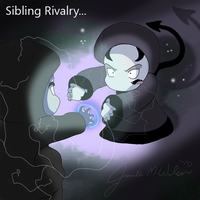 Sibling Rivalry by WeisseEdelweiss