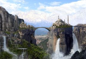 Waterfall Kingdom by bogues