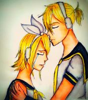 Kagamine Rin and Len by Ircuz
