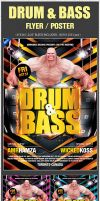 Drum Bass Electro Beats Sound Flyer Poster PSD by amrhamza