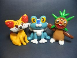 Pokemon XY Starters by Sara121089