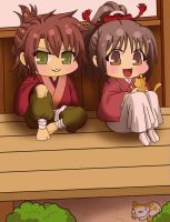 Hakuouki: Free Time (chibi version) by latria28