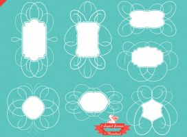 Elegant clip art frames pack by PicturesOfPelicans