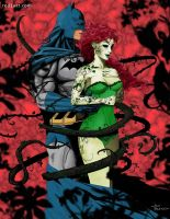 Batman and Poison Ivy_color by JonBland