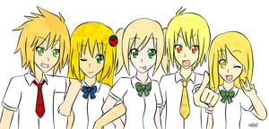 team blonde~ by mo0on3