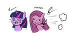 Pony chibi: Twilight and Pinkamena by ChensArts-3008