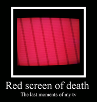 Red screen of death by Maleiva