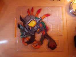 Perler Deathy - Unfused by LittleFatDragons