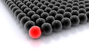 Glass Balls, Black and Red by PcChip