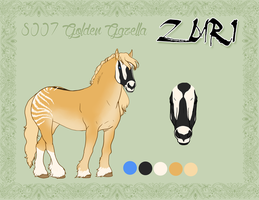 8007 Golden Gazella by Bearzoi