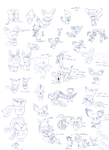 Derp Fan Art Sketch dump 2 by HappyNinjaPichu