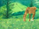 Watercolor Horse by Astralstonekeeper
