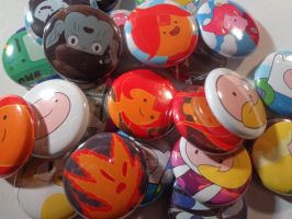 1 in. Adventure Time button close up by MermaidSoupButtons