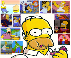 Character Collage: Homer Simpson by Austria-Man