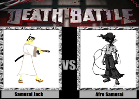 Death Battle idea Samurai Jack vs Afro Samurai by kingdomofsantiago1