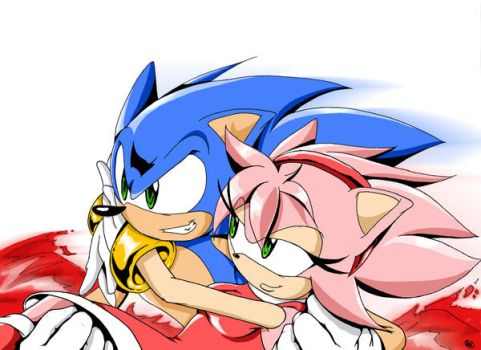 Sonic and Amy by ChickenDoodleSoup