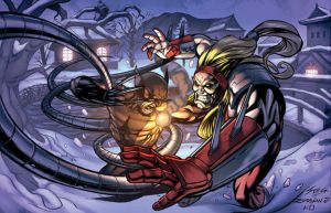 Wolverine Vs Omega Red by kieranoats