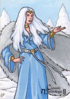 Skadi Sketch Card - Classic Mythology II by ElainePerna
