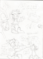 Sonic and Amy 001 Sketch by uberdude3252