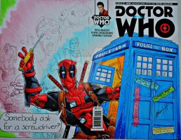 Dr Deadpool Final sketch cover by steelcitycustomart