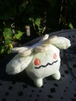 Skiploom plushie by Foureyedalien