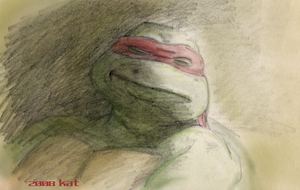 TMNT Raphael Dozing C by theblindalley