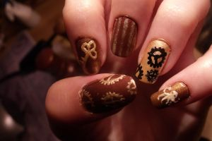steampunk nail art by Pttcrab