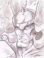 Thor Sketch Shot by StevenSanchez