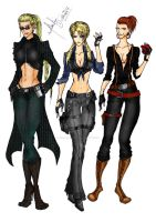 Gender Swap: Wesker,Leon,Jake by divadonna224