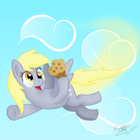 Flying Derpy by extreme-sonic