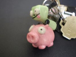 Piggy Gir Keychain by DigiPad