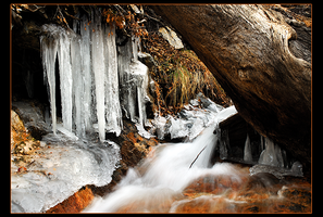 Freezing Falls Creek by narmansk8