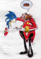 Eggman and Sonic by S-concept