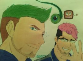 Markiplier and Jacksepticeye anime (surprise art) by stephanieshadowmarie
